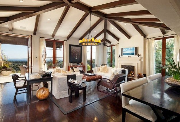Back Porch Exposed Beams Home Design Inside Home Wood Beam