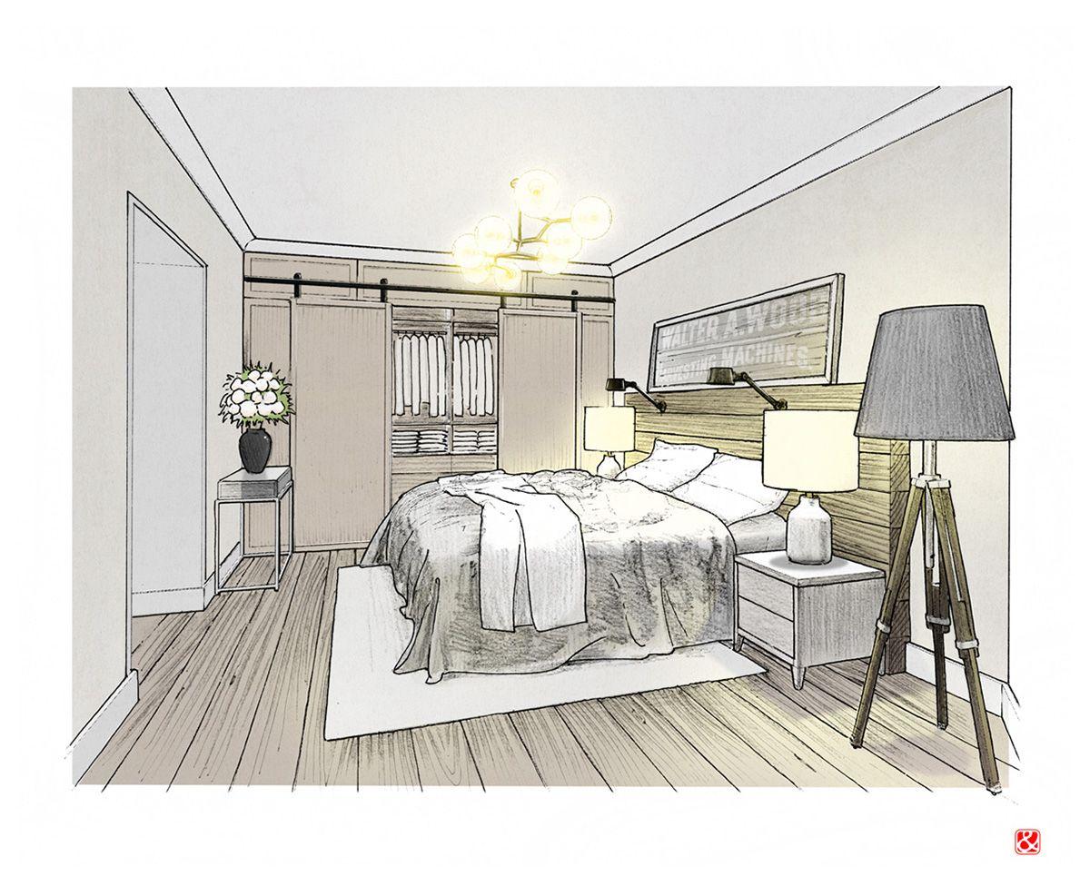 Bedroom Interior Illustration Bedroom Bedroomdecoridea