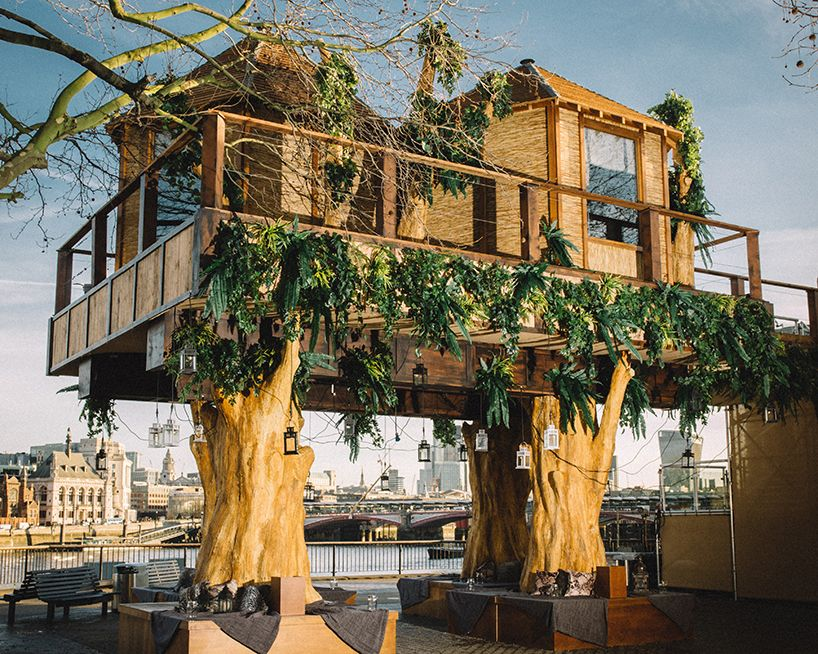 virgin holidays builds 35 foot luxury treehouse in london places rh pinterest com