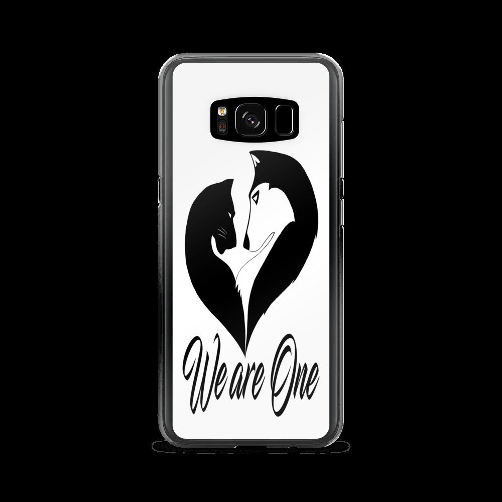 We are One Samsung Galaxy S8 & S8+ White Case de Tanavon en Etsy  #together  #forever  #bf  #heart  #soul  #wolf  #wolves  #wild  #wildlife  #panther #love #Samsung #Samsungcase