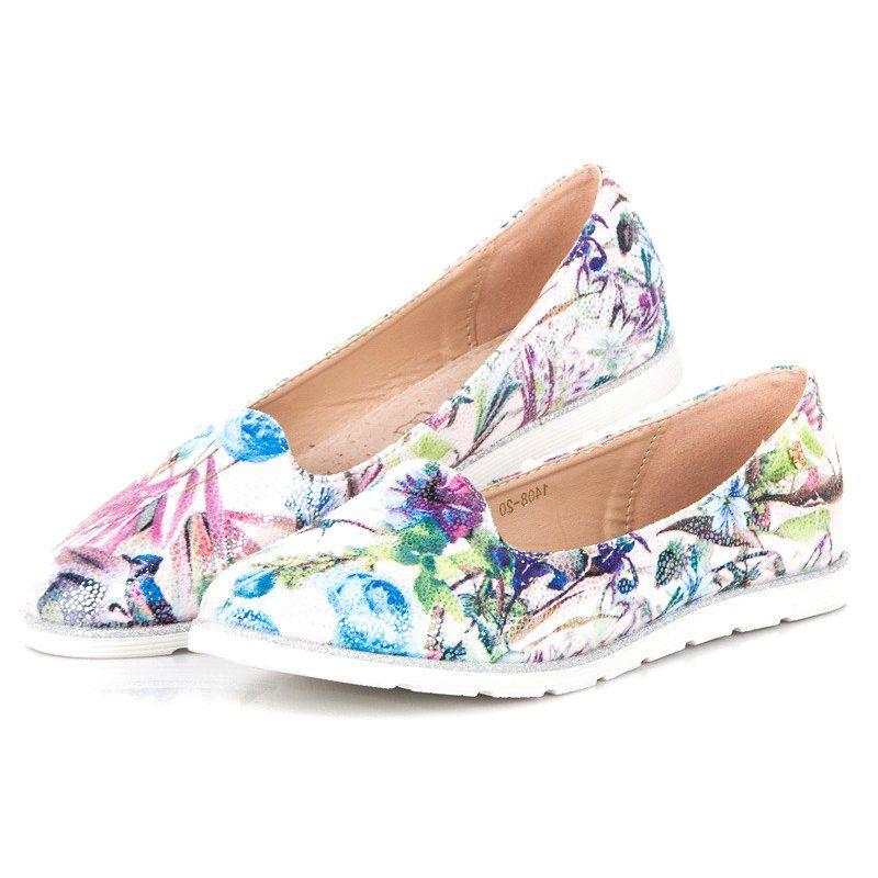 Vices Wiosenne Lordsy Wielokolorowe Shoes Fashion Flats
