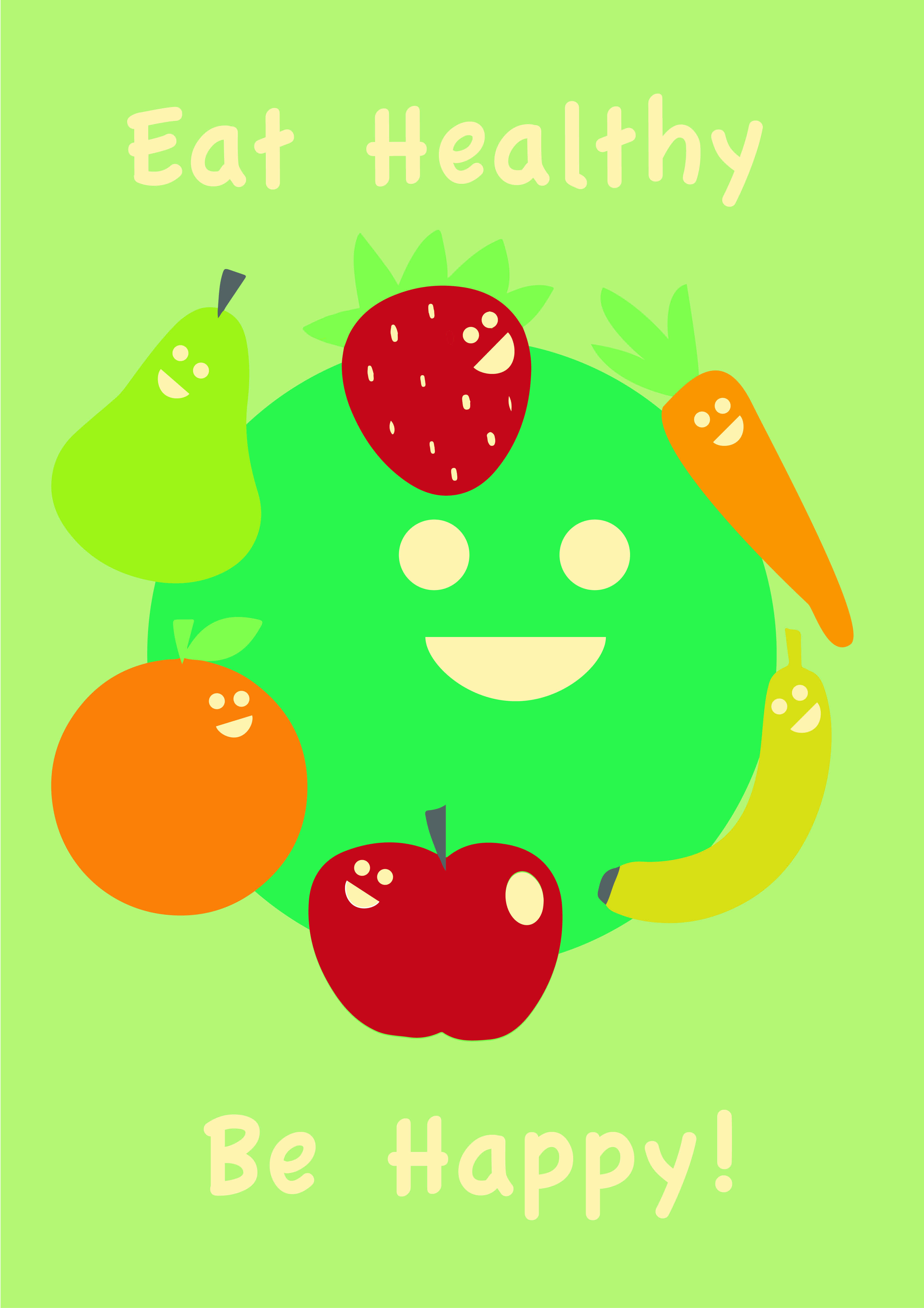 002 Simple Healthy Eating Poster for Primary School Healthy