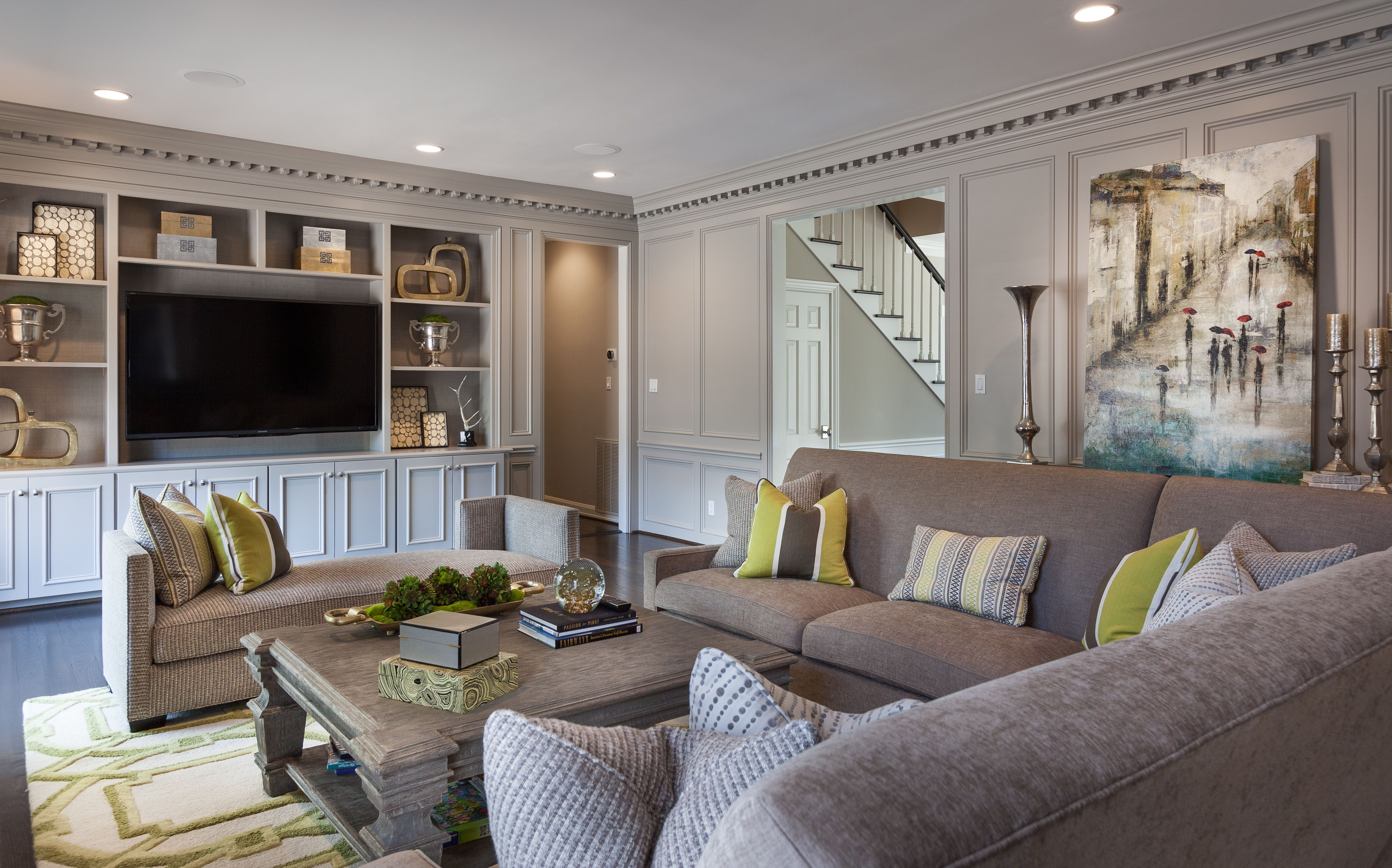 Transitional-Living-Room-Design   Ideas for building a new ...