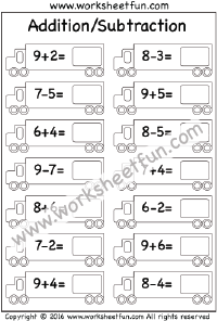 mixed addition subtraction 2 worksheets numeracy subtraction rh pinterest com