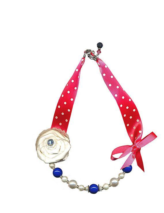 Baby Necklace Girl Necklace Toddler Necklace pink by jadoregigi, $23.50