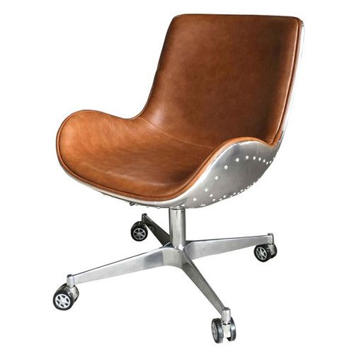 Found It At Allmodern Abner Desk Chair Leather Swivel Chair