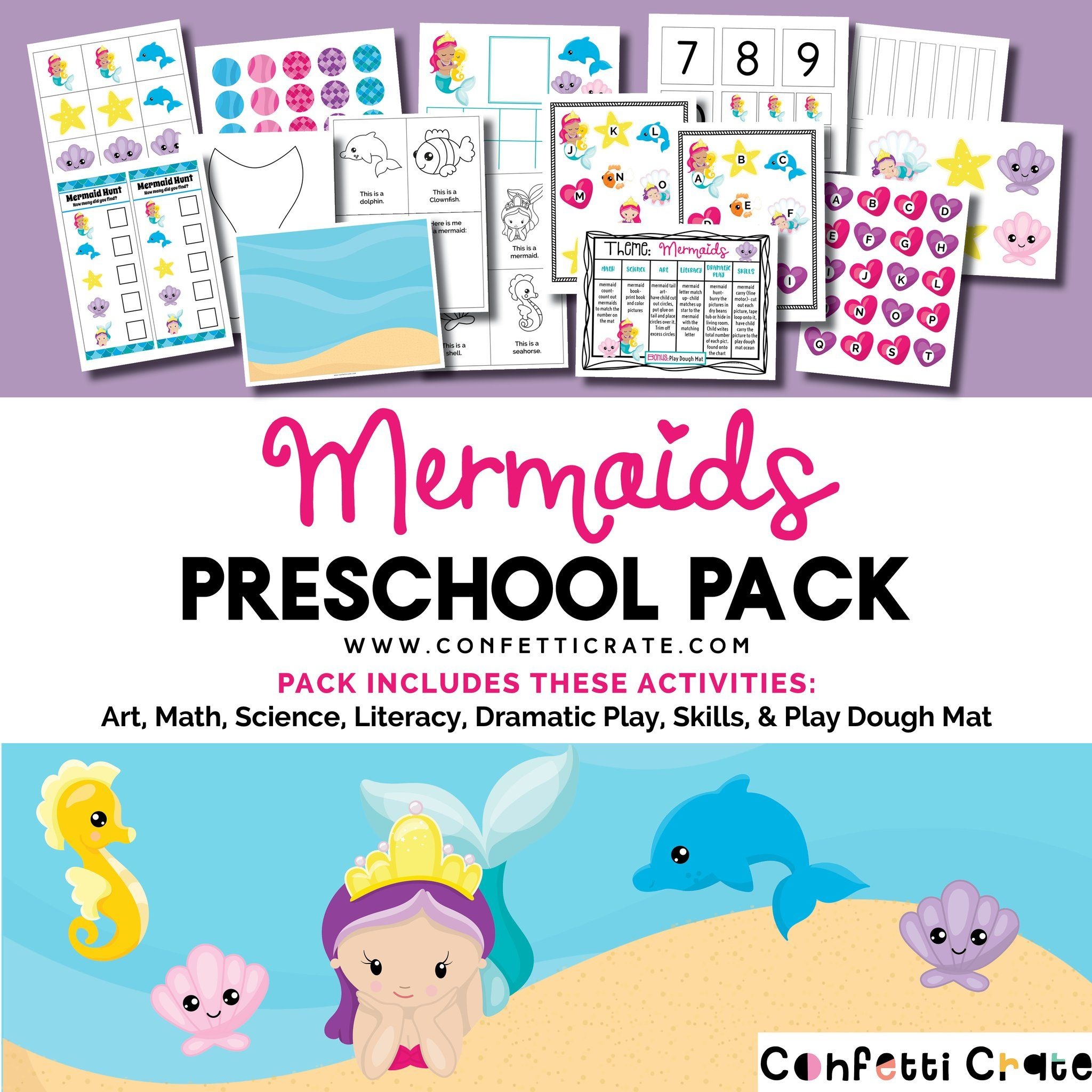 Mermaid Educational Preschool Activities