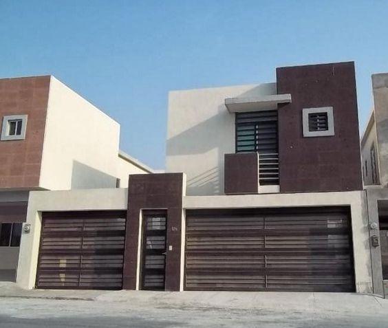 Fachadas de casas modernas con cochera doble fachadas for Casas minimalistas modernas con cochera subterranea