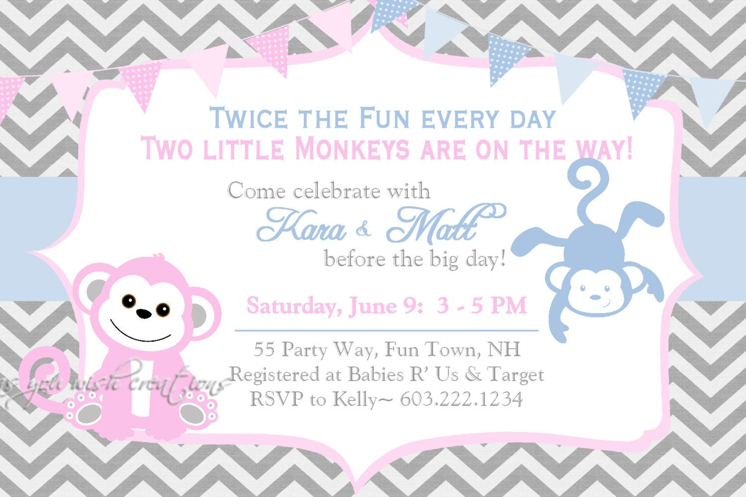 nice Unique Ideas For Twin Baby Shower Invitations Free