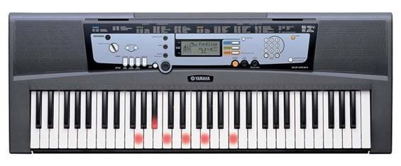 yamaha ez 220 portable keyboard with lightup keys. Black Bedroom Furniture Sets. Home Design Ideas