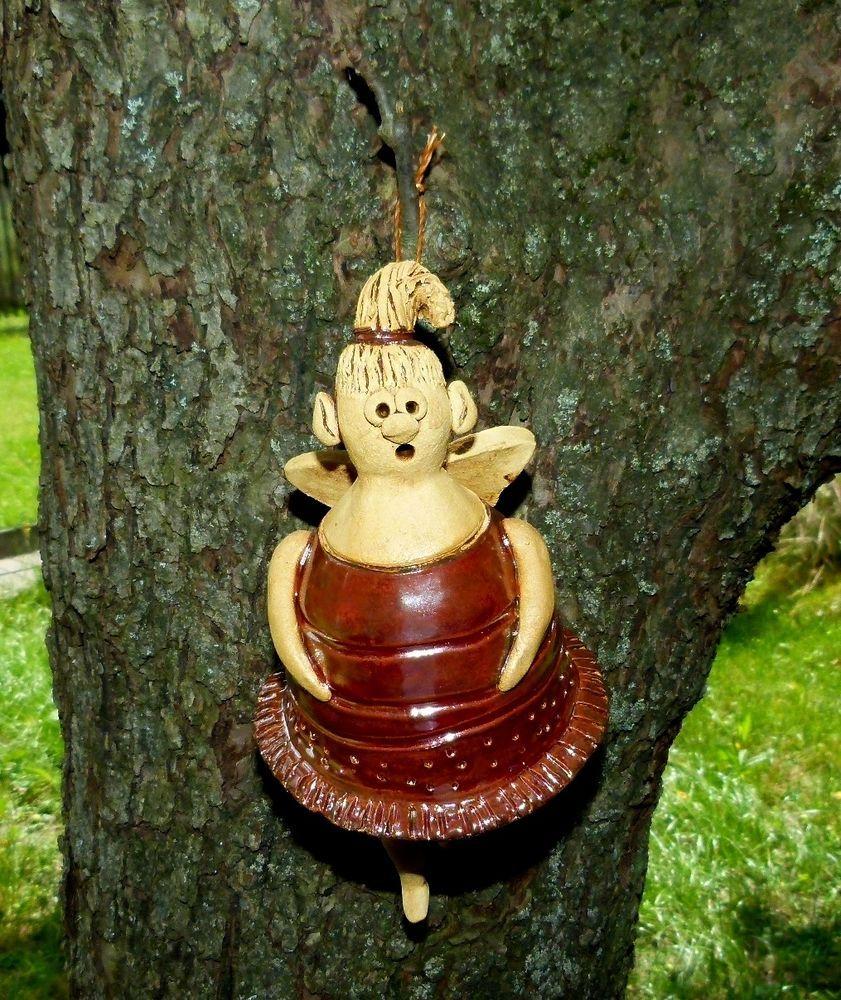 elfe gartenfigur keramik garten fee engel dekofigur skulptur handarbeit unikat frostfeste. Black Bedroom Furniture Sets. Home Design Ideas