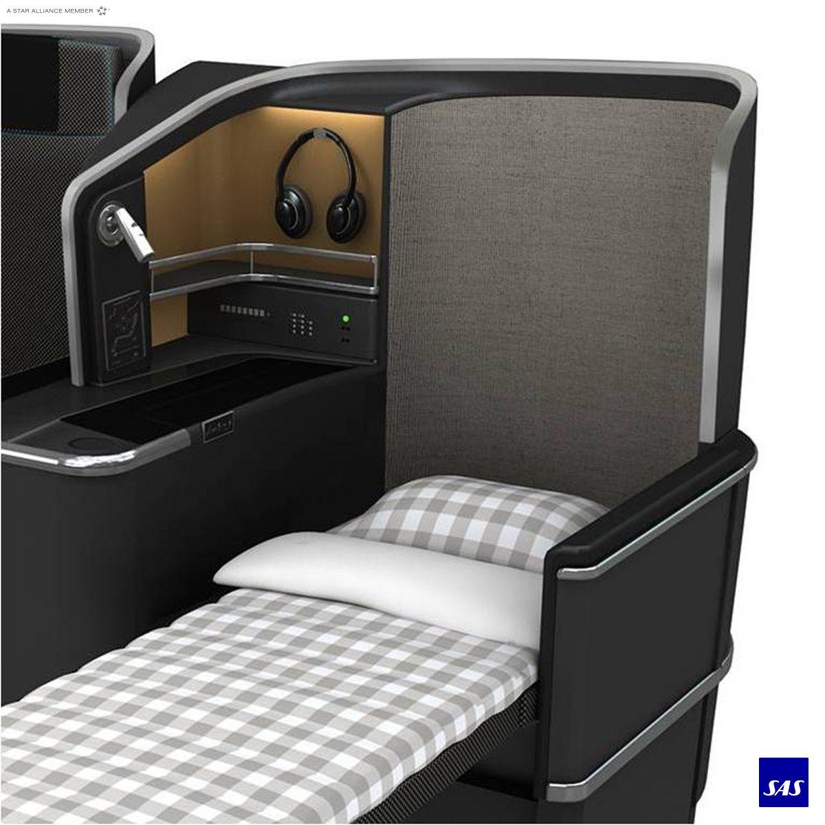 Sas Business Fully Flat Bed Bedding From Hastens Luftfahrt Kommerziell