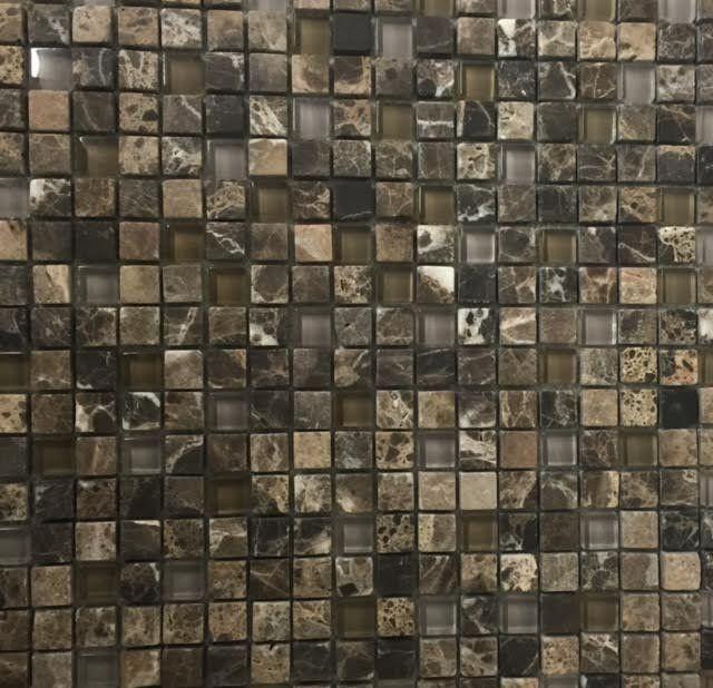 dark emperador tumbled glass mosaic 5 8 x 5 8 free shipping rh pinterest com