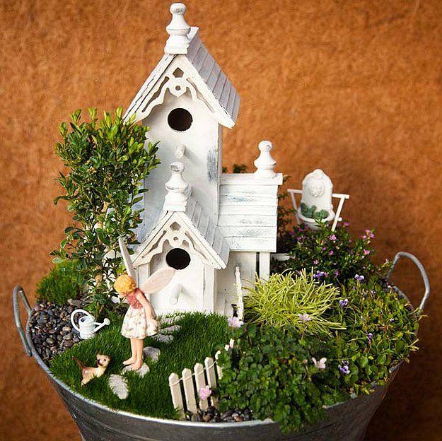 How to Make a Fairy Garden Diy fairy garden Fairy and Gardens