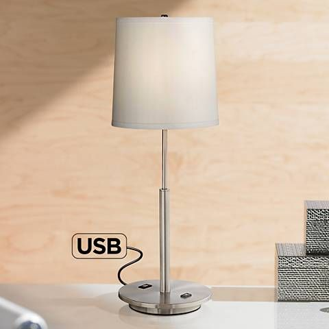 martel metal table lamp with usb port and 2 prong outlet 7j477 rh pinterest com