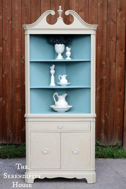 cottage instincts corner cabinet up do furniture corner rh pinterest com