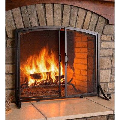 amazon com 39w x 31h 2 door celtic knot flat fire screen in pewter rh artofit org
