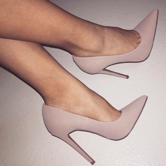 I WANT THESE SO MUCH. high heel mauve dusty rose blush pink shoes ... e7830ca49e55