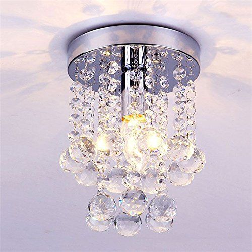 Lightinthebox flush mount modern led ceiling lamp luxury crystal chandeliers living room foyer light home lighting