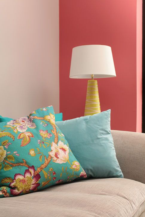 coral shore works perfectly with neutral soft furnishings and minty rh pinterest com
