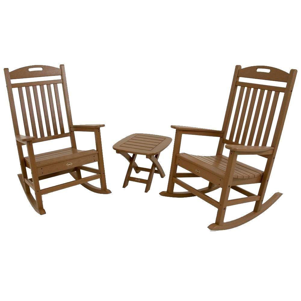 trex outdoor furniture yacht club sand castle 3 piece patio rocker rh ar pinterest com