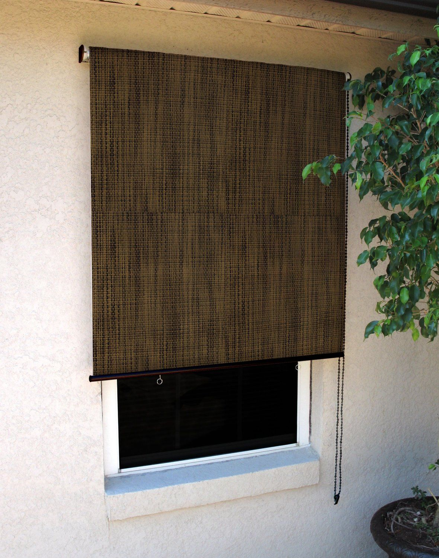 Coolaroo Designer Window Sun Shade 8 Feet Wide By 6 Feet High Sandalwood Roller Shades Exterior Shades Window Design