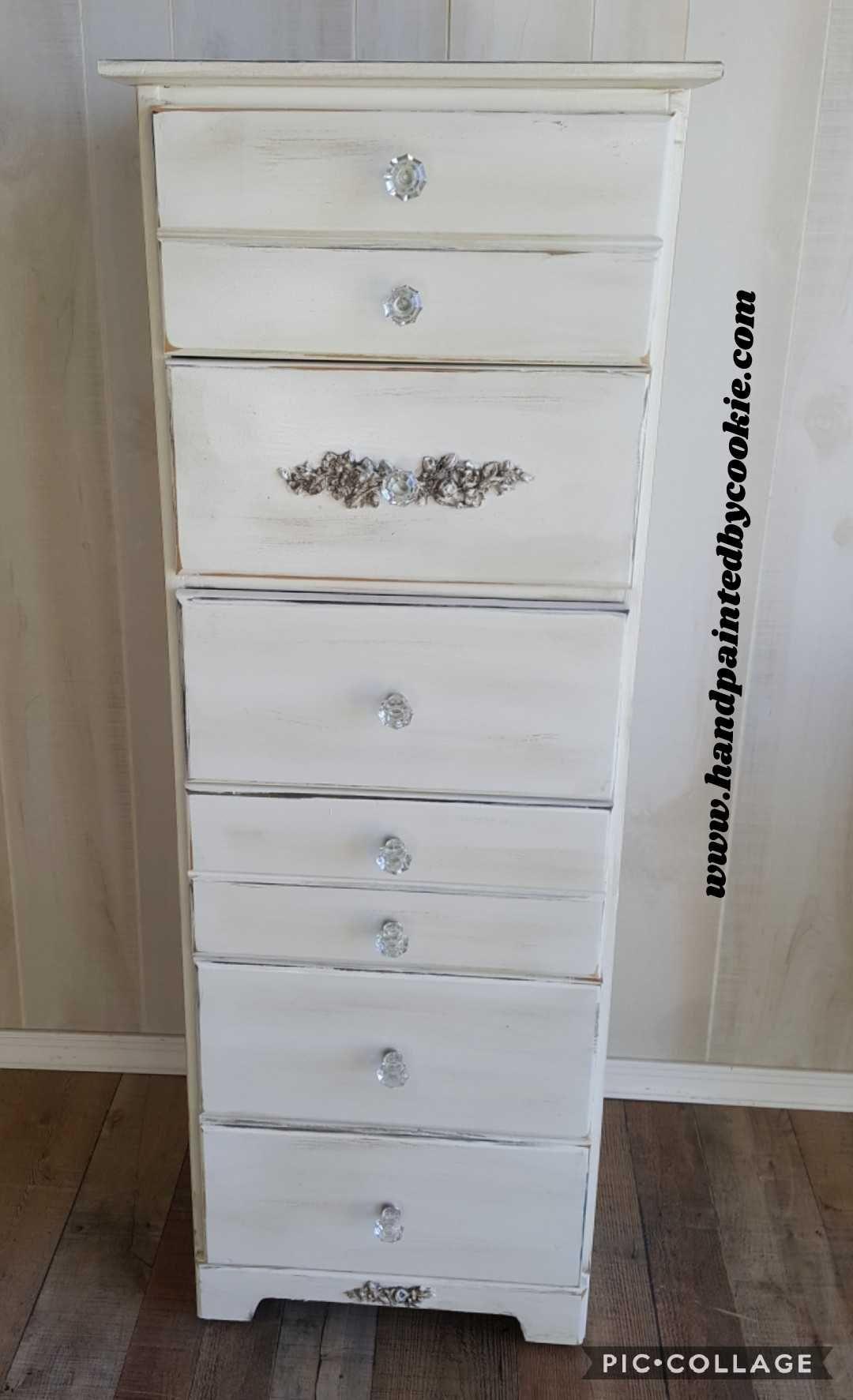 vintage painted distressed tall dresser chest sh vintage rh pinterest com