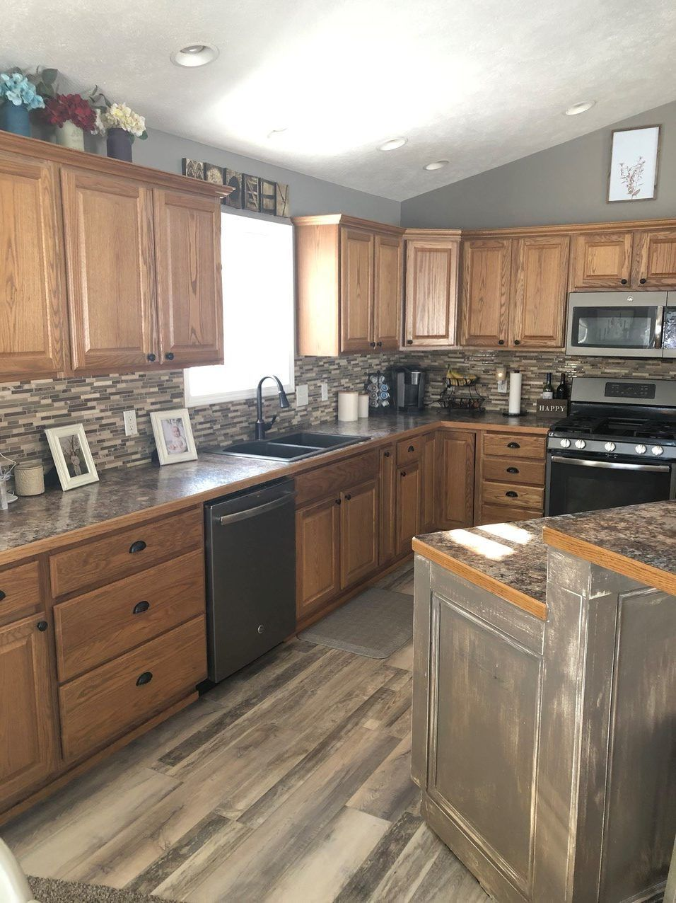 Should I Paint My Oak Cabinets Or Keep Them Stained A Questionnaire In 2020 Oak Cabinets Staining Cabinets Staining Oak Cabinets