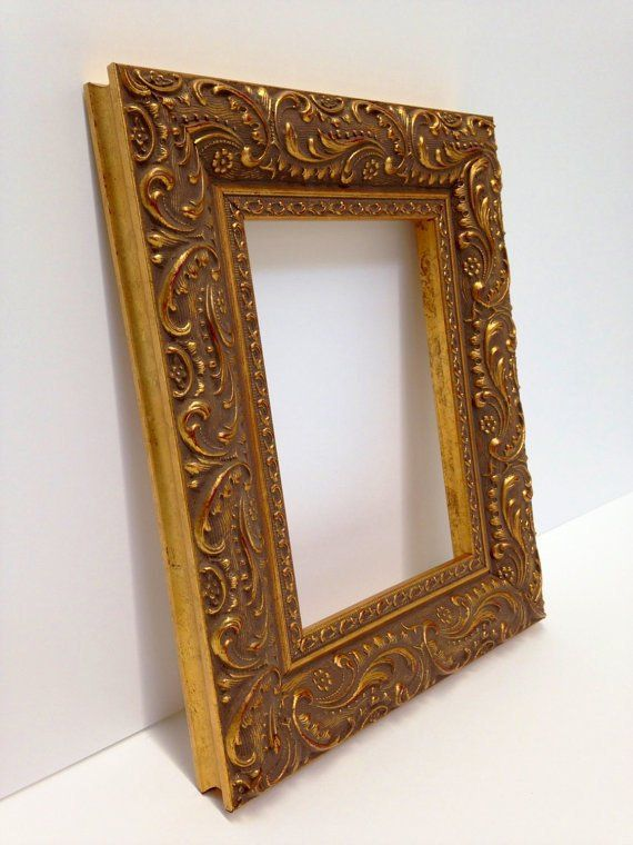 Gold Ornate Paisley Picture Frame 3x5 4x6 5x7 8x10 11x14 16x20 18x24 24x36 Custom Sizes All Wood Textured Frame Real Gold Leaf Frame Unique Picture Frames Picture Frames