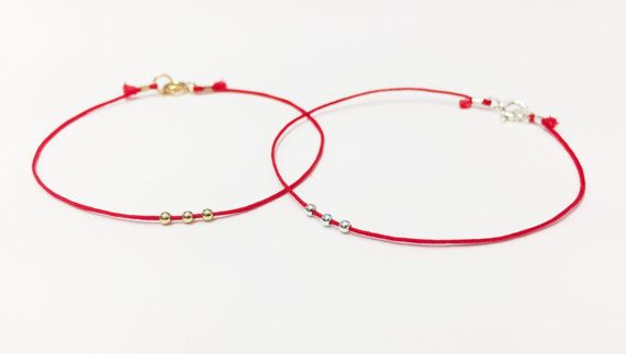 RED STRING of FATE, Anniversary Gift, Valentines Day Gift, Red String bracelet, Boyfriend Girlfriend Gift, Couples Bracelet Set Couples Gift RED STRING OF FATE WITH CLASP AND BEADS | BEST SELLER! | His & Hers | Hers & Hers | His & His | Best Friends | Soulmates | Couples → INCLUDED 1