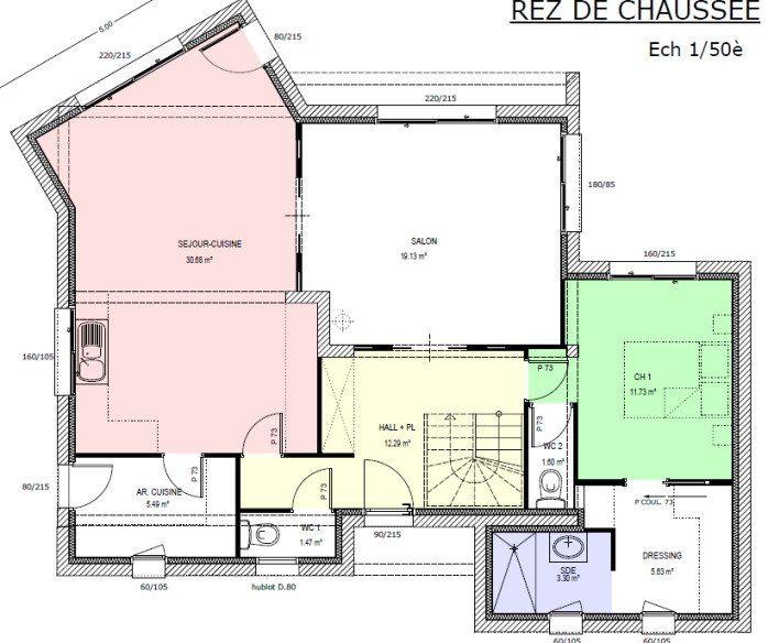 Plan achat maison neuve à construire - Marc Junior 11-CA-5-154