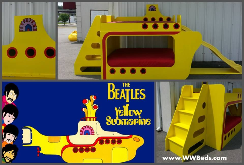 Beatles Yellow Submarine bed with slide Dash