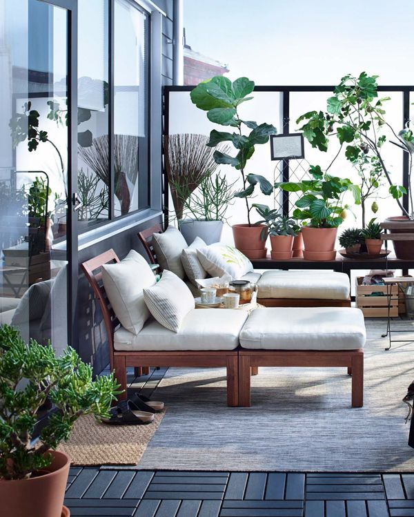 trick your tiny balcony into storing more home decor backyard rh pinterest com