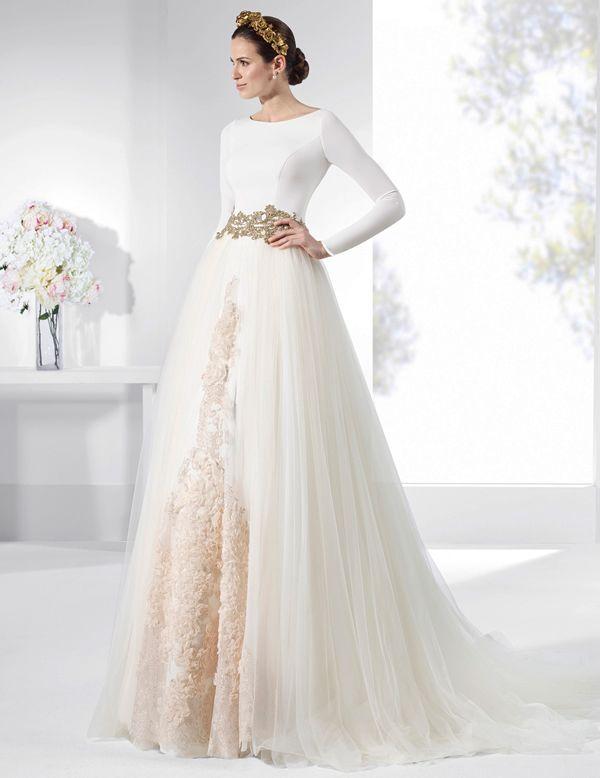 Vestidos de novia falda amplia