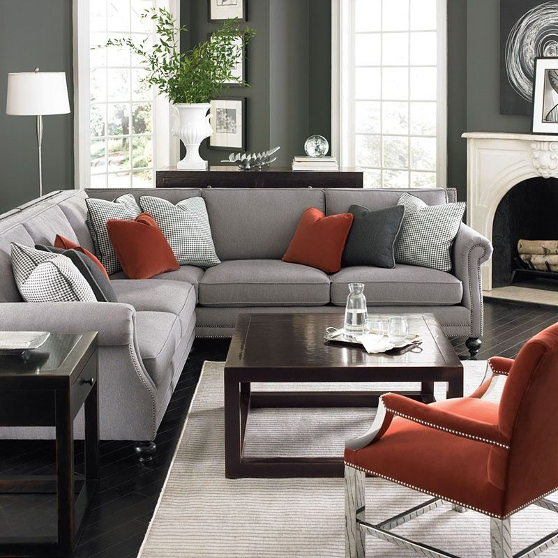 Room Family room Contemporary SofaBlack And