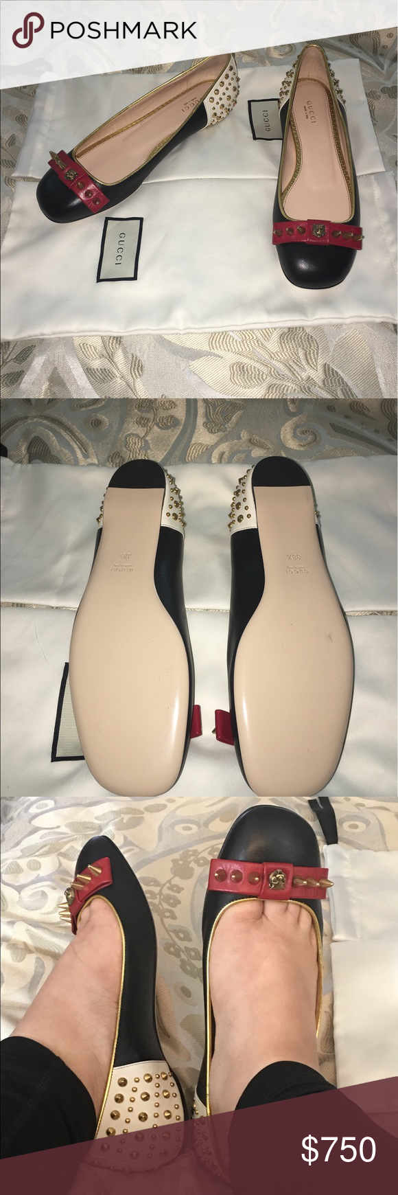 2e8e0b98b Gucci Lexi studded ballet flats Original gucci flats these are brand new  shoes i only tried