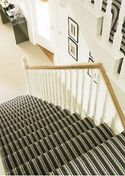 Striped Carpet On Hallway Stairs Best Hallway Carpets Hallway