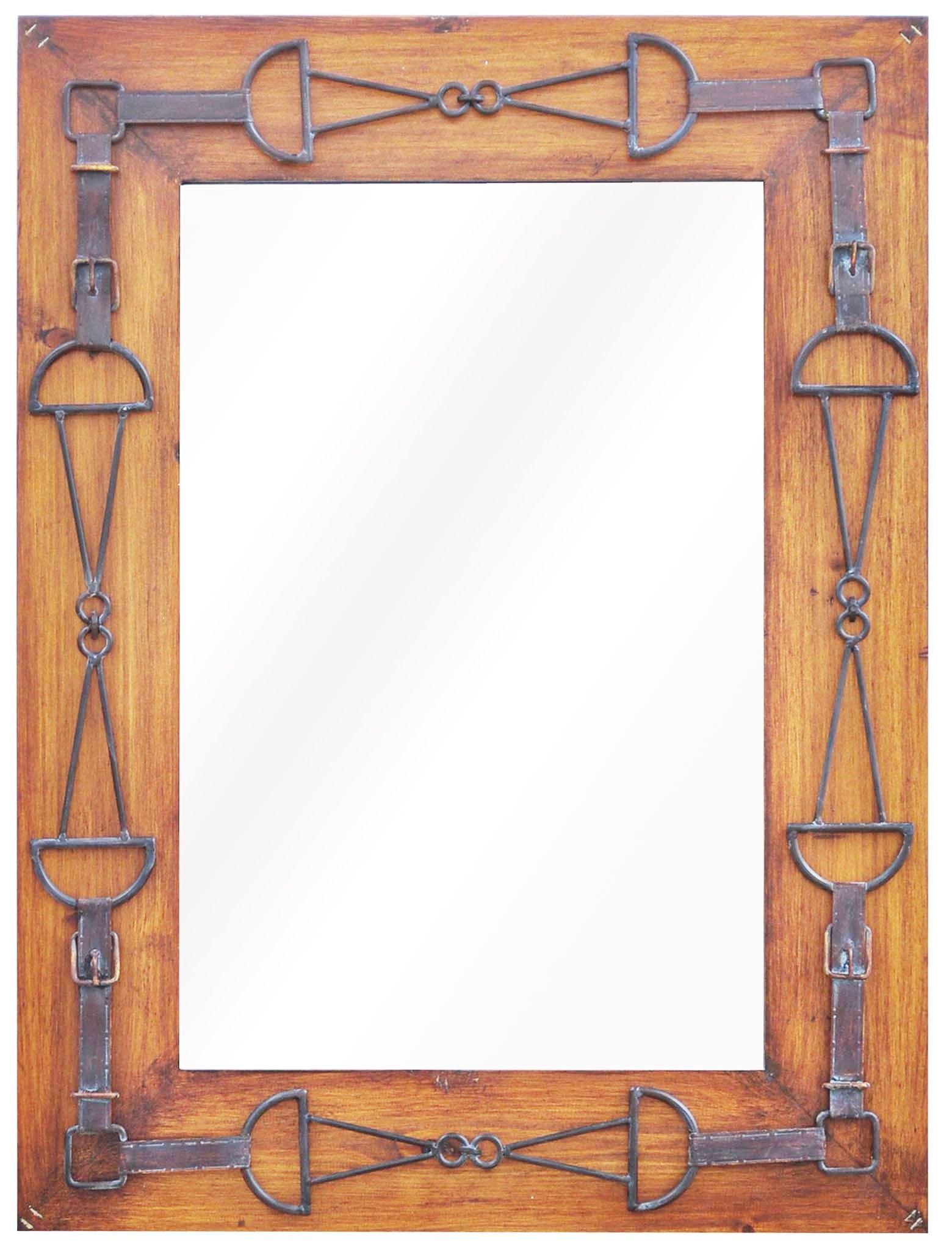 Rustic Wall Mirror w/ Wood Frame - Your Western Decor   Bathroom ...