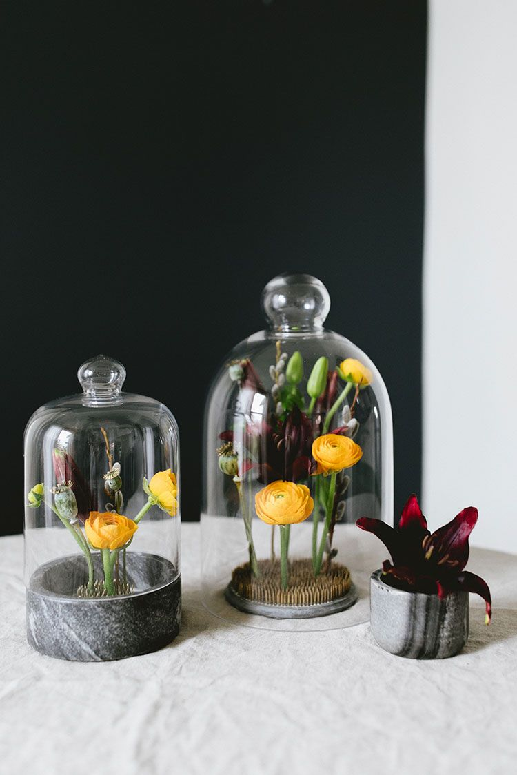 an unexpected valentine s day cloche centerpiece flowers nature rh pinterest com