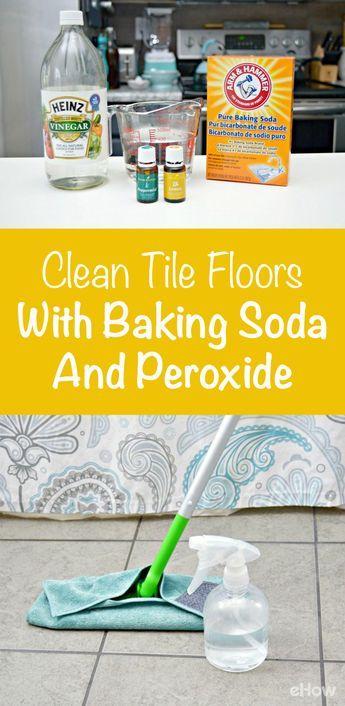 how to clean tile floors with baking soda pinterest baking soda rh pinterest com