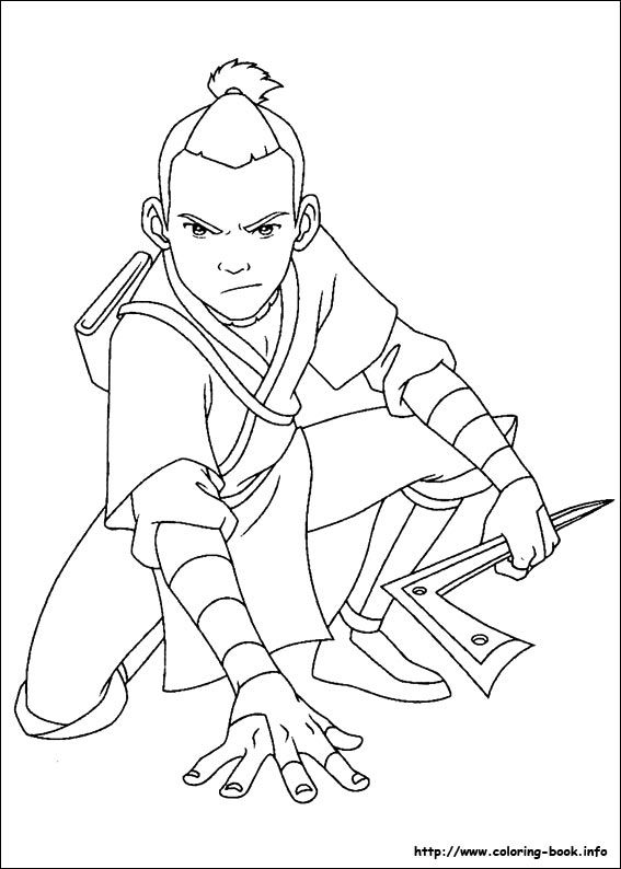 Avatar The Last Airbender Coloring Picture Coloring Books