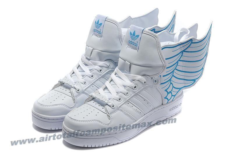 the best attitude de6a6 9a1d1 Adidas X Jeremy Scott Wings 2.0 Shoes White Blue Outlet