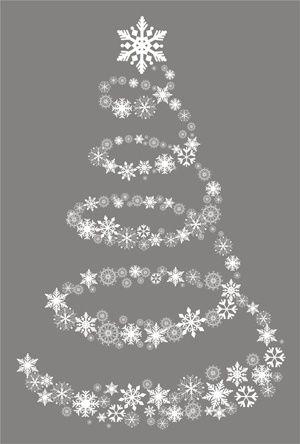 Decorazione ALBERO DI NATALE IN BIANCO MDF Fiocco di neve Craft forme