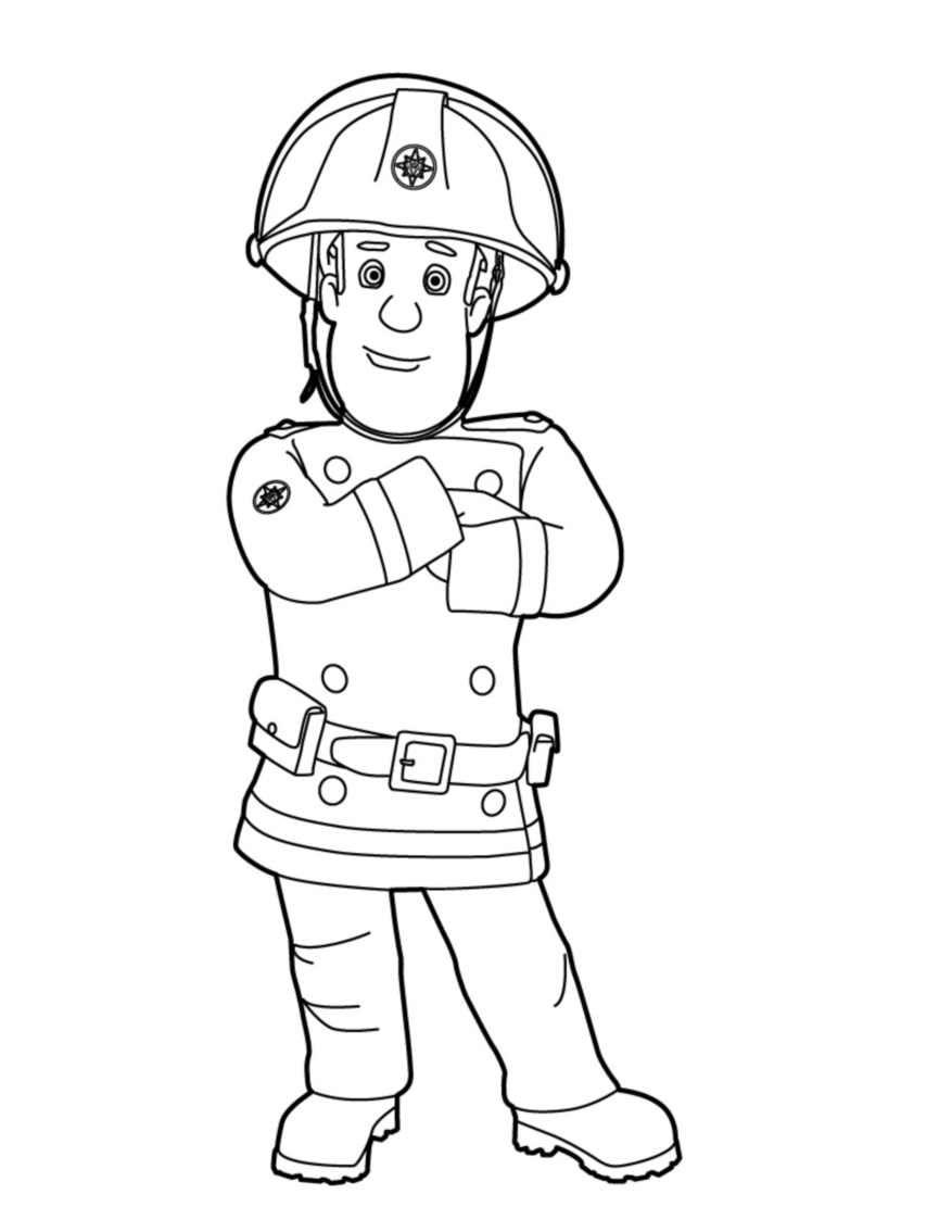 Coloriage Sam Le Pompier Les Beaux Dessins De Dessin Animé à