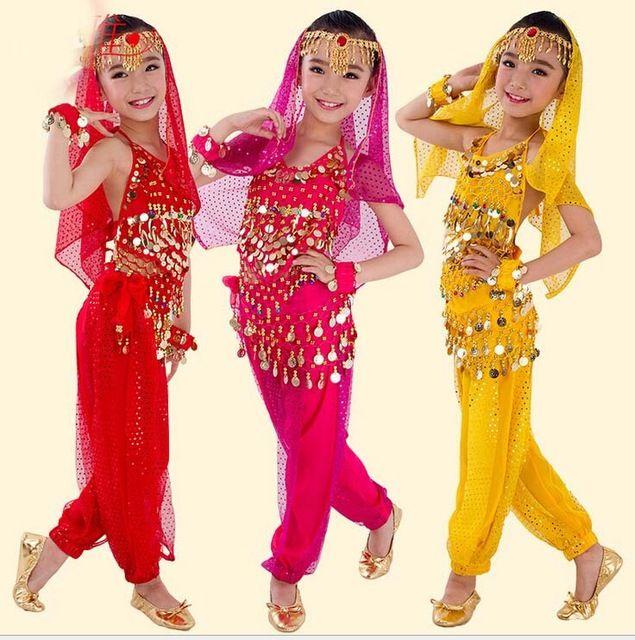 2 Pcs Egyptian Belly Dance Costume Indian Sarees India