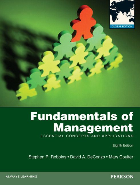 Fundamentals Of Management Essential Concepts And Applications De Stephen P Robbins David A Decenzo Et Mary Coulter Contents Introduction Managers And Ma