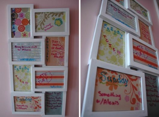 Picture Frame To-Do-List  This is an awesome idea...I am gonna give it a go!  Would make a nice gift.