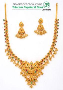 Totaram Jewelers  Buy 22 karat Gold jewelry   Diamond jewellery from India  Gold  Necklace Sets 2d120995b