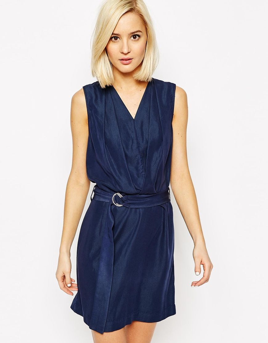 Image 1 of Vero Moda D-Ring Belted Wrap Dress
