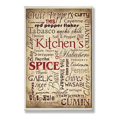 Stupell Industries Kitchen And E Words Typography Wall Plaque